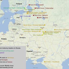 Enterprises of global forest industry leaders in Russia
