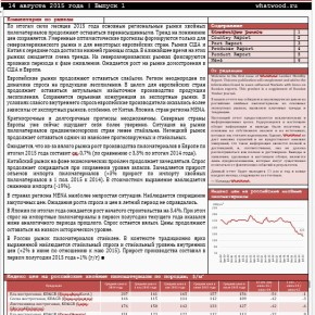 WhatWood Russian Monthly Lumber Report #15 (Oct' 2016): seasonal decline of wood supplies; tough competition in Egypt; export seasonality