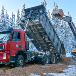 In 2018, the Plesetsk timber industry built 142 km of timber roads and 11 bridges