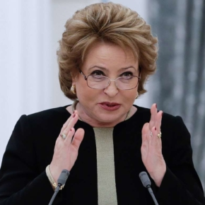 Matvienko urged Medvedev to impose an embargo on the export of forests