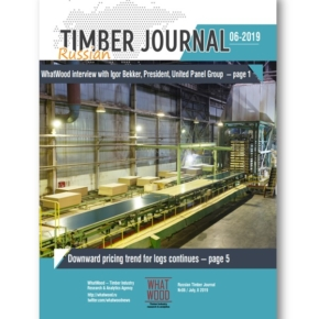 Russian Timber Journal 06-2019: WhatWood interview with President of United Panel Group; downward pricing trend for logs continues; packaging industry: on the way to circular economy; In 2018, China is increasing trade in wood; WhatWood's statistics of log price index in Russia