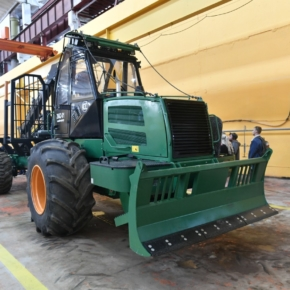 The first prototype of the forwarder was created at the Amkodor-Onego plant in Karelia