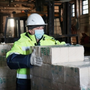 Sveza Uralsky mill started production of wood briquettes