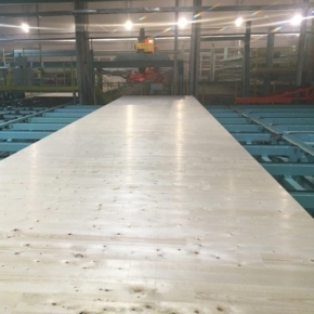 Segezha Group produced a large-sized CLT panel weighing about 9.5 tons
