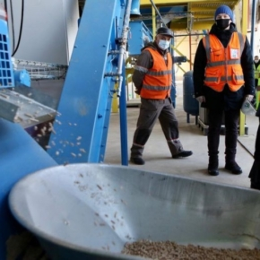 A wood pellet production line put into operation at Spassky LPK in the Primorsky region