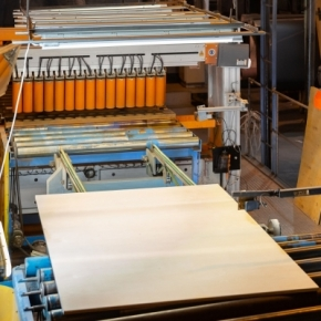 Sveza's Saint Petersburg production facility makes the first batch of maximum size plywood sheets