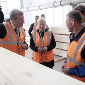 В Кировской обл. компания «Хольц Хаус» запустила производство клееного бруса
