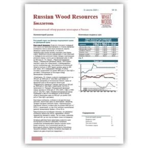Опубликован новый выпуск ценового бюллетеня «Рынок лесосырья в России 08-2020» №15